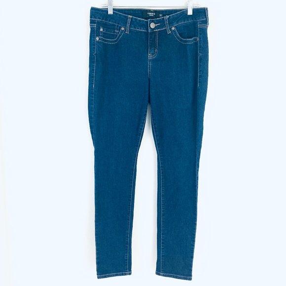 Torrid Mid Rise Classic Skinny Stretch Jeans 12R